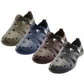 30 Units of Men's Walking Light Weight Velcro Sandals ( *Asst. Black Navy Brown And Khaki )
