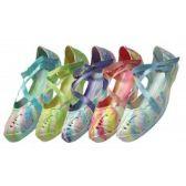 36 Units of Women's Tie-Dye Criss-Cross Shoe - Women's Sandals