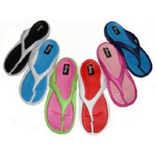 36 Units of Ladies' Two Tone Thong - Women's Flip Flops