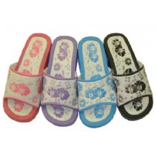 36 Units of Ladies' Flower Print Slippers - Womens Slippers