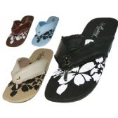 Wholesale 24 Units of Women's Flip Flop Sandals