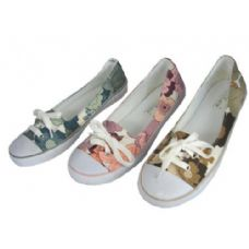 24 Units of Ladies' Canvas w/ Lace - Women's Sneakers