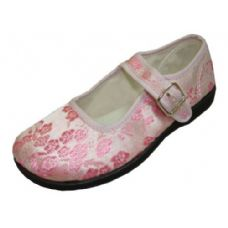 36 Units of Girl Brocade MaryJane Pink - Girls Shoes