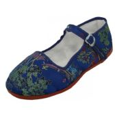 36 Units of Girls' Brocade Mary Janes ( Navy Color Only) - Toddler Footwear
