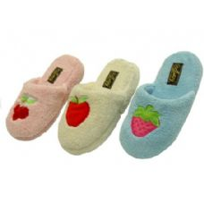 36 Units of Ladies' Fruit Embroidered Slippers - Womens Slippers