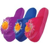 36 Units of Ladies' Daisy Plush Slippers - Womens Slippers