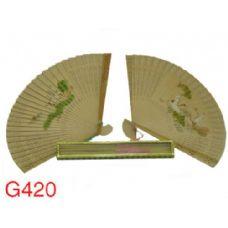 240 Units of Fragrant Sandalwood Fans (Design on Both Sides) - Home Decor