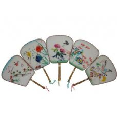 500 Units of Square Silk Palace Fans - Home Decor