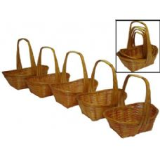 24 Units of Rectangle Bamboo Basket Set of 5 - Baskets