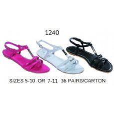 36 Units of Ladies Sandal With Metal Decal - Women's Flip Flops