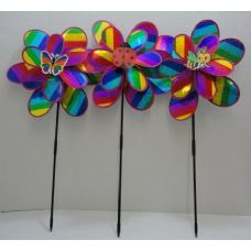 "36 Units of 14"" Double Wind Spinner-Rainbow Sparkle - Wind Spinners"