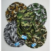 24 Units of Men's Camouflage Boonie Hat - Cowboy & Boonie Hat