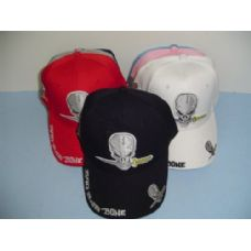 48 Units of Bad 2 Da Bone Hat with Skull - Baseball Caps & Snap Backs