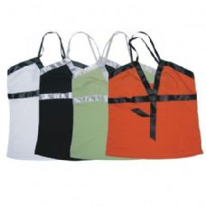 96 Units of WOMENS TANK TOP W/BOW IN FRONT ASTD COLORS AND SIZES - Womens Camisoles / Tank Tops