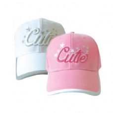 144 Units of Cutie Girls Basevall Cap - Baseball Caps & Snap Backs