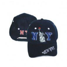 144 Units of NEW YORK LIBERTY BASEBALL CAP ASSORTED COLORS - Baseball Caps & Snap Backs