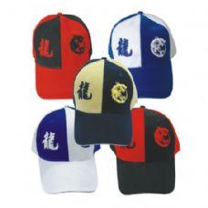 144 Units of DRAGON BASEBALL CAP ASSORTED COLORS - Baseball Caps & Snap Backs