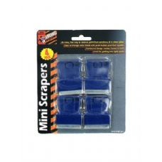 72 Units of 4 Pack miniauture scrapers - Hardware Products