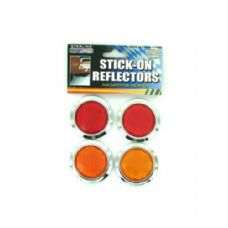 72 Units of 4 Pack stick-on reflectors