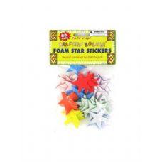 72 Units of Foam Star Stickers 80 Pack - Foam & Felt