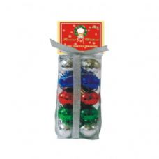 72 Units of 20 PC DISCO BALLS MULTI COLORS - Christmas Ornament