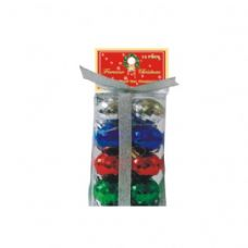 72 Units of 12 PC DISCO BALLS MULTI COLORS - Christmas Ornament