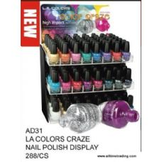 288 Units of LA Color Craze Nail Polish With Display - Nail Polish