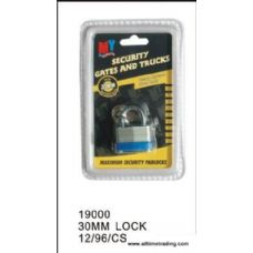96 Units of 30MM SECURITY LOCK - Padlocks/Combination Locks/Brass/Iron
