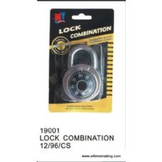 96 Units of SECURITY LOCK COMBINATION - Padlocks/Combination Locks/Brass/Iron