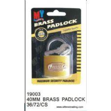 72 Units of 40MM BRASS PADLOCK - Padlocks/Combination Locks/Brass/Iron