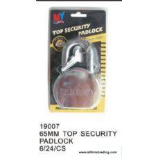 24 Units of 65MM TOP SECURITY PADLOCK - Padlocks/Combination Locks/Brass/Iron