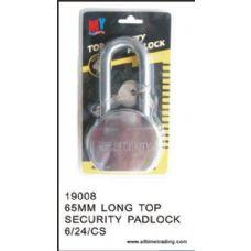 24 Units of 65MM TOP SECURITY PADLOCK  LONG TOP - Padlocks/Combination Locks/Brass/Iron
