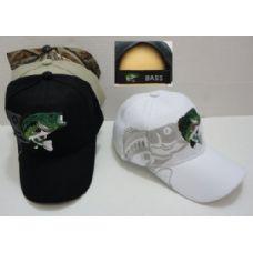 24 Units of Fish Hat with Shadow - Baseball Caps & Snap Backs