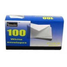 24 Units of Boxed White Envelopes - #6 3/4 - 100 count - Envelopes