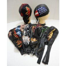 24 Units of Assorted Leather-Like Skull Caps - Bandanas