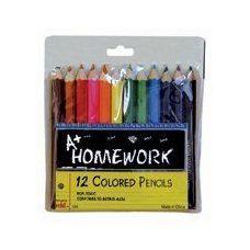 48 Units of Colored Pencils - 12 pk - Mini - 3inch - Asst. Colors - Pencils