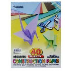 36 Units of Construction Paper Pack - 40 sh - 12 x 9 - Asst. Cls. - Paper
