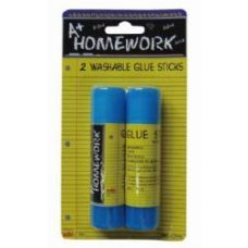 48 Units of Glue Sticks - Washable - .50 oz ea - 2 pack - Glue Office and School