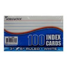 48 Units of Index Cards - Ruled - 3x 5 - 100ct - poly wrapped - Labels ,Cards and Index Cards