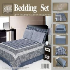 4 Units of 8 Piece Full Size Bedding in a Bag - Bed Sheet Sets