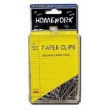 48 Units of Paper Clips - 160ct.-1.25 - Silver Metal - Plastic Boxed - Clips and Fasteners