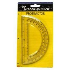 48 Units of Protractor - 6inch- 1 pack - Assorted Plastic Cl - Rulers