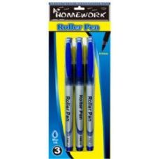 48 Units of Roller Pens - 3 pk - Blue Ink - Pens