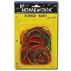 48 Units of Rubber Bands- 50gm - bag - Asst. Colors