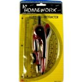 48 Units of Safety Compass(Plastic)+ Protractor- 6- Combo Pk. - Rulers