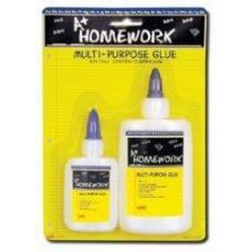 48 Units of School Glue - Washable - 2 pk - 1.25oz + 4.0 oz - CARDED - Glue Office and School