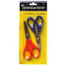 48 Units of School Scissors - 2 pack - 4.5 - Scissors