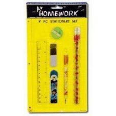 96 Units of School Tools Set - 7 pcs - Asst.Tools - Pencils