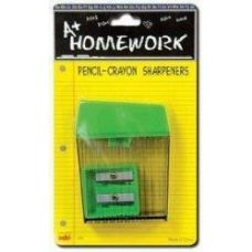 48 Units of Sharpeners - 2 pk - Pencil + Crayon - Asst.Cls. - Sharpeners