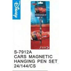 144 Units of Cars Magnetic Hanging Pen Set - Licensed School Supplies